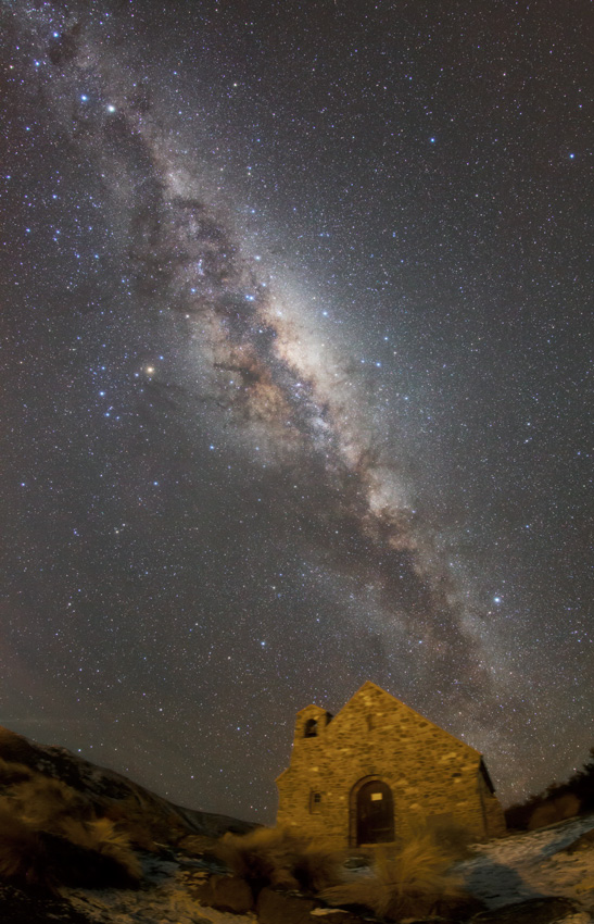 The Church of the Good Shepherd and Milkyway in Tekapo