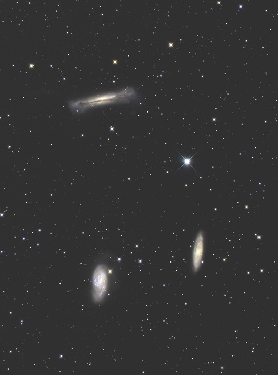 NGC 3628, M65, M66, Galactic Group in Leo